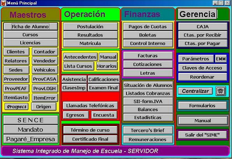 Software Escuela Conductores