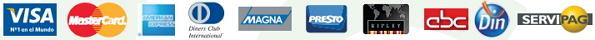 Tarjetas aceptadas por DineroMail.