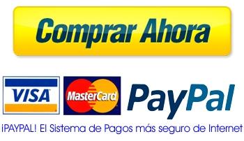 Ordernar con Paypal o con Tarjeta de Debito o Credito
