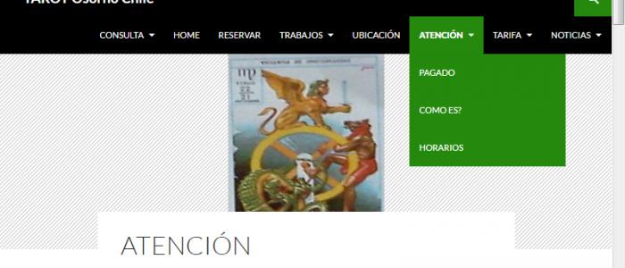 Tarot Osorno Chile Menu Atencion