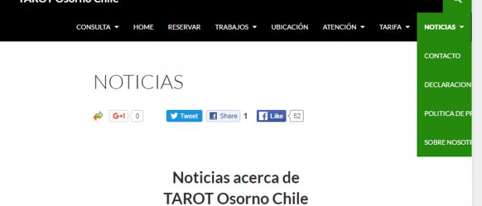 Tarot Osorno Chile Menu Noticias