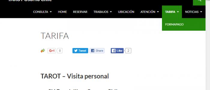 Tarot Osorno Chile Menu Tarifas
