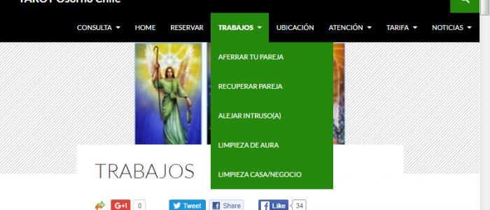 Tarot Osorno Chile Menu Trabajos